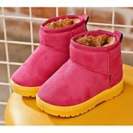 Para Meninas sapatos Pele Nobuck Outono Inverno Botas de Neve Forro de fluff Botas Para Casual Preto Fúcsia Café Camel