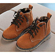 Jongens Schoenen PU Herfst Winter Comfortabel Legerlaarzen Laarzen Voor Causaal Zwart Geel Leger Groen