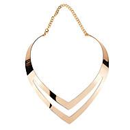 Damen Kragen - versilbert, vergoldet Herz damas, Modisch lieblich Gold, Silber Modische Halsketten Schmuck Für Alltag, Ausgehen