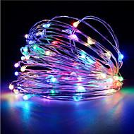 1pcs hkv ® 3m 30 הוביל 3 x aa הסוללה חוט נחושת פיה מחרוזת אור קישוט צד החתונה הוביל מחרוזת האורות (ללא סוללות)