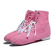 "billige Jazz-sko-Barne Jazz Lerret Hel såle Joggesko Profesjonell Trimmer Flat hæl Mandel Rød Grønn Blå Rosa Under 1 """