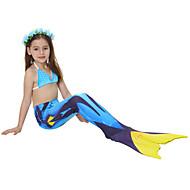 The Little Mermaid หางนางเงือก Aqua Princess ชุดว่ายน้ำ บีกีนี่ สำหรับเด็ก เด็กผู้หญิง วันคริสต์มาส วันฮาโลวีน เทศกาลคานาวาล Festival / Holiday Elastane Tactel