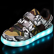 Kids' Shoes-Boys' Shoes Breathable Mesh / Leatherette Fall / Winter Light Up Shoes / Light Soles / Comfort Sneakers LED / Magic Tape for Casual White