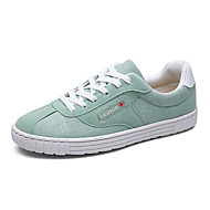 Men's Shoes PU Spring Fall Comfort Sneakers For Outdoor White Black Light Green