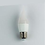 billige Globepærer med LED-1pc 4W 300 lm E27 LED-globepærer C35 6 leds SMD 3528 Varm hvit AC 110-240V