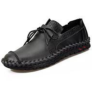 Hombre Zapatos PU Otoño Confort Oxfords Negro y Oro / Negro / blanco / Impresión Oxfords d7GjFV2mzE
