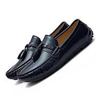 お買い得  大きいサイズ/小さいサイズ 靴-男性用 靴 ピッグスキン 冬 モカシン ローファー&スリップアドオン ブラック / Red / ブルー / リボン