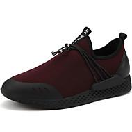 Miehet kengät PU Kevät Syksy Comfort Urheilukengät Kävely varten Musta Burgundi