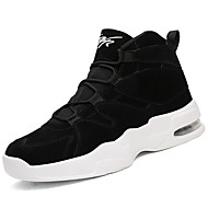 Men's Shoes Rubber Fall Winter Comfort Sneakers Lace-up For Outdoor Black/White Black White