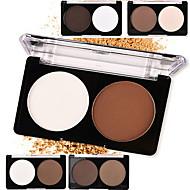 2 Powder Peitevoide/Contour Korostusvärit ja aurinkopuuterit Kivipuuteri Kuiva Matte Pressed powder Vaalennus Oil-control Luonnollinen