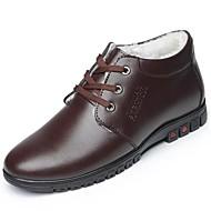 メンズ 靴 PUレザー 冬 コンフォートシューズ オックスフォードシューズ 用途 カジュアル ブラック Brown