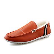 メンズ 靴 PUレザー 春 夏 コンフォートシューズ サンダル 用途 カジュアル ホワイト ブラック オレンジ