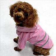 Kat Hund Frakker Regnfrakke Fugtigheds- / Vandtæt Refleksbånd Hundetøj Stribe Gul Rød Blå Terylene Kostume For kæledyr Vanntett Oplyst