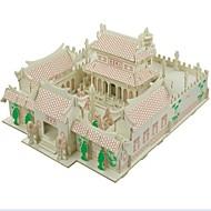 Quebra-Cabeças 3D Quebra-Cabeça Modelos de madeira Brinquedos de Montar Casas Moda Casa Templo Shaolin Clássico Moda Novo Design Crianças