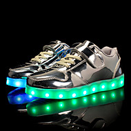 cheap Boys' Shoes-Boys' Shoes Patent Leather / Customized Materials Spring / Summer Comfort / Light Up Shoes Sneakers Lace-up / Magic Tape / LED for Gold /