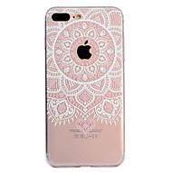 billiga Mobil cases & Skärmskydd-fodral Till Apple iPhone X iPhone 8 Plus Mönster Skal Mandala spetsar Utskrift Mjukt TPU för iPhone X iPhone 8 Plus iPhone 8 iPhone 7