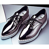 Women's Shoes Pigskin Fall Winter Comfort Oxfords For Casual Blue Silver