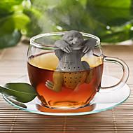 billige Kaffe og te-tre otter silikone te infuser urte ubåt løs blad filter filter diffuser