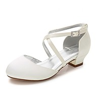 baratos Sapatos de Menina-Para Meninas Sapatos Seda Primavera / Outono Conforto / Bailarina / Tira no Tornozelo Saltos Pedrarias / Presilha / Cadarço para Branco /