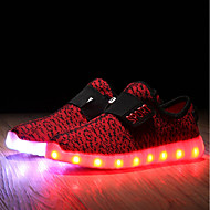 Boys' Shoes Knit Spring Fall Light Up Shoes Comfort First Walkers Light Soles Athletic Shoes LED For Casual Outdoor Blushing Pink Blue