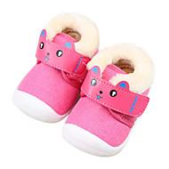 赤ちゃん 靴 繊維 秋 冬 コンフォートシューズ 赤ちゃん用靴 フラット 用途 カジュアル Brown ピンク