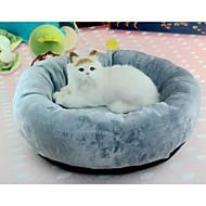 ネコ 犬 ベッド ペット用 クッション/枕 ソリッド ソフト 洗濯可 グレー ペット用
