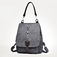 Women Bags PU Backpack Zipper for Casual Outdoor All Season Blue Black Red Gray Brown