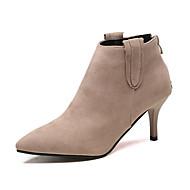 Mujer Zapatos Semicuero Otoño / Invierno Tacón Cuadrado 35.56-40.64 cm / Hasta la Rodilla Hebilla Negro / Marrón Nice Prix Pas Cher dt8zICE9