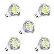 billige -5pcs 3W E14 LED-spotpærer E14 / E12 16 leds SMD 5630 LED Lys Varm hvit Hvit 260-300lm 3000-3500/6000-6500K AC 220-240V