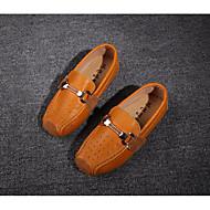 Недорогие -Мальчики обувь Кожа Зима Осень Удобная обувь Мокасины и Свитер для Повседневные Белый Желтый
