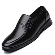 cheap Small Size Shoes-Men's Shoes Leatherette Spring Summer Formal Shoes Loafers & Slip-Ons Trim for Wear to work Party & Evening Black