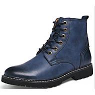 Muškarci Cipele Koža Zima Jesen Vojničke čizme Udobne cipele Čizme za Kauzalni Sive boje Braon Plava