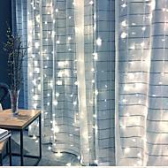 billige Bestelgere-4m Lysslynger 300 LED Dip Led Varm hvit / Kjølig hvit / Blå Koblingsbar 220-240 V 1pc / IP65