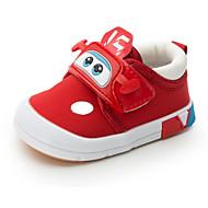 Bebê sapatos Lona Outono Inverno Conforto Primeiros Passos Tênis Para Casual Preto Vermelho Azul