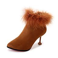 Feminino Sapatos Couro Ecológico Verão Chanel Sandálias Salto Plataforma Ponta Redonda Presilha Para Social Preto Camel Castanho Escuro