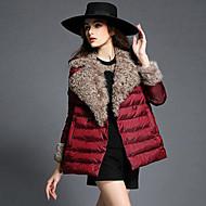 Dámské Dlouhý kabát Jednoduchý Běžné/Denní Jednobarevné-Kabát Jiné Polypropylen Dlouhý rukáv