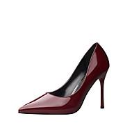Žene Cipele Umjetna koža Jesen Cipele na petu Hodanje Stiletto potpetica za Formalne prilike Crvena Zlatan Nude Burgundac Svjetlosmeđ