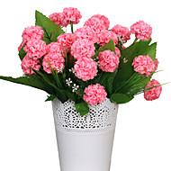 2 Gren Silke Andre Hortensiaer Bordblomst Kunstige blomster