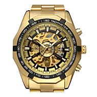 WINNER Homens Relógio de Moda Relógio Elegante Relógio de Pulso Automático - da corda automáticamente Gravação Oca Aço Inoxidável Banda