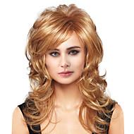 halpa -Naisten Ihmisen hiukset Capless Peruukit Musta hunaja Blonde Medium Auburn Medium Auburn / Bleach Blondi Pitkä Runsaat laineet Sivuosa
