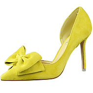 baratos Sapatos Femininos-Mulheres Sapatos Pêlo Verão / Outono Gladiador / Plataforma Básica Saltos Salto Agulha Dedo Apontado Apliques Amarelo / Vermelho / Rosa
