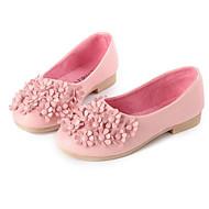 Para Meninas sapatos Couro Ecológico Primavera Outono Conforto Rasos para Casual Branco Preto Vermelho Rosa claro
