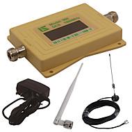 mini intelligent LCD-skjerm dcs980 1800mhz mobiltelefon signal booster repeater med utendørs sucker antenne / innendørs pisk antenne gul