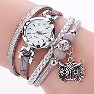 Mulheres Quartzo Simulado Diamante Relógio Bracele Relógio Chinês imitação de diamante PU Banda Casual Boêmio Fashion Preta Branco Azul