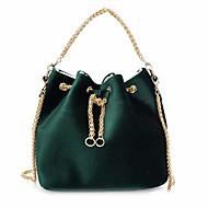 baratos Bolsas Tote-Mulheres Bolsas Veludo Tote Bolsos Vermelho / Verde Escuro / Cinzento Claro