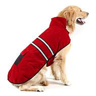 Χαμηλού Κόστους Προμήθειες για κατοικίδια-Σκύλος Παλτά / Αντανακλαστική ταινία Ρούχα για σκύλους Μονόχρωμο Σκούρο μπλε / Κόκκινο / Κυνηγετικό Πράσινο Καστόρι / Βαμβάκι Στολές Για κατοικίδια Διατηρείτε Ζεστό