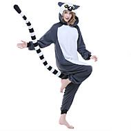 Kigurumi-pyjamas lemur Abe Onesie-pyjamas Kostume Polarfleece Syntetisk Fiber Grå Cosplay Til Nattøj Med Dyr Tegneserie Halloween