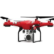RC Drone FLYRC X52 RTF 4 Canali 6 Asse 2.4G Con videocamera HD 0.3MP 640P*480P Quadricottero Rc Luci a LED / Tasto Unico Di Ritorno / Auto-Decollo Quadricottero Rc / Telecomando A Distanza / Librarsi