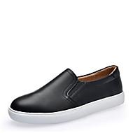 Damer Sko Ægte Læder Læder Efterår Komfort Sneakers Til Afslappet Hvid Sort