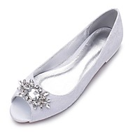 cheap Women's Shoes-Women's Shoes Lace Satin Fabric Spring Summer Comfort Wedding Shoes Peep Toe Rhinestone Sparkling Glitter For Wedding Party & Evening